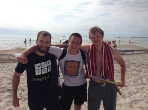 Olof, Christian och Artour